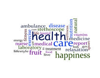 Health word cloud Stock Images