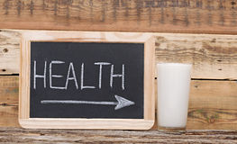 Health Word On Blackboard Royalty Free Stock Photography