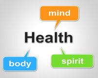 Health Words Represents Preventive Medicine And Care Royalty Free Stock Image