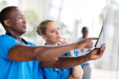 Health workers looking Stock Photo