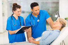 Health workers patient Royalty Free Stock Photo