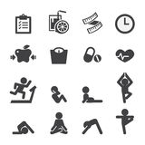 Health and yoga icon Stock Images