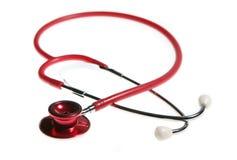Healthcare. Stethoscope isolated on white, short DOF Stock Images