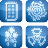 Healthcare. 4 icons in Healthcare from left to right Royalty Free Stock Photo