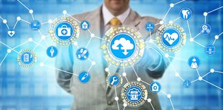 Free Healthcare Administrator Exchanging Data Via SaaS Stock Photo - 106955320