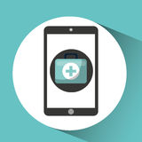 Healthcare app first aid graphic Stock Photography