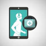 Healthcare app first aid graphic Royalty Free Stock Photos