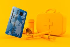 Healthcare background with credit card royalty free illustration