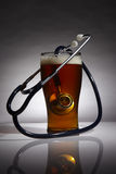 Healthcare of beer Stock Image