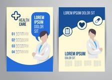 Healthcare brochure Stock Image