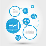 Healthcare circle concept with EKG Royalty Free Stock Photo