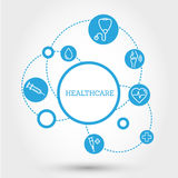 Healthcare circle concept with pills Stock Photography