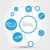 Healthcare circle concept with pills Stock Photos