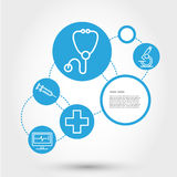 Healthcare circle concept with stethoscope Royalty Free Stock Photos