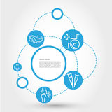 Healthcare circle concept with wheelchair Royalty Free Stock Image