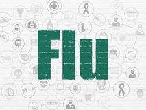 Healthcare concept: Flu on wall background Stock Photos