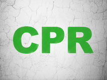 Healthcare concept: CPR on wall background Royalty Free Stock Images