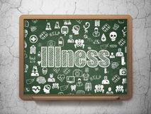 Healthcare concept: Illness on School board background Royalty Free Stock Photos