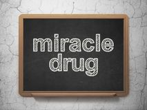 Healthcare concept: Miracle Drug on chalkboard background Stock Photo