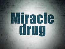 Healthcare concept: Miracle Drug on Digital Data Paper background. Healthcare concept: Painted blue word Miracle Drug on Digital Data Paper background Stock Images