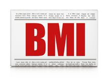 Healthcare concept: newspaper headline BMI. On White background, 3D rendering Stock Image