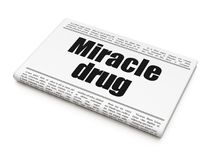 Healthcare concept: newspaper headline Miracle Drug. On White background, 3D rendering Stock Images