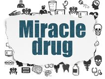 Healthcare concept: Miracle Drug on Torn Paper background Royalty Free Stock Photo