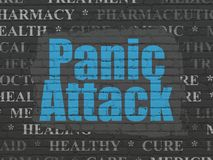 Healthcare concept: Panic Attack on wall background. Healthcare concept: Painted blue text Panic Attack on Black Brick wall background with  Tag Cloud Royalty Free Stock Photos