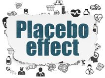 Healthcare concept: Placebo Effect on Torn Paper background. Healthcare concept: Painted blue text Placebo Effect on Torn Paper background with  Hand Drawn Royalty Free Stock Images