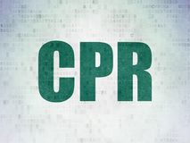 Healthcare concept: CPR on Digital Data Paper background Royalty Free Stock Images