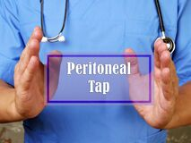 Healthcare concept about Peritoneal Tap with inscription on the sheet
