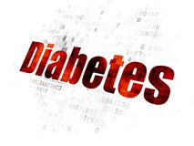 Healthcare concept: word Diabetes on Digital background royalty free stock photo