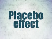 Healthcare concept: Placebo Effect on Digital Data Paper background. Healthcare concept: Painted blue word Placebo Effect on Digital Data Paper background Stock Photo