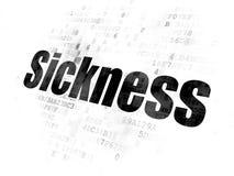 Healthcare concept: Sickness on Digital background. Healthcare concept: Pixelated black text Sickness on Digital background Royalty Free Stock Photo