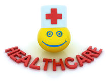 Healthcare concept with a smile symbol Stock Photos
