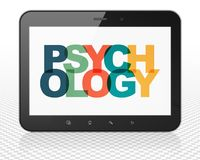 Healthcare concept: Tablet Pc Computer with Psychology on  display. Healthcare concept: Tablet Pc Computer with Painted multicolor text Psychology on display, 3D Royalty Free Stock Photos