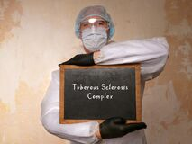 Healthcare concept about Tuberous Sclerosis Complex with inscription on the page