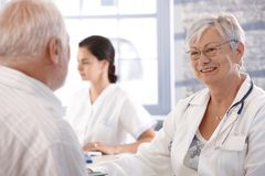Healthcare consultation at old age Stock Image