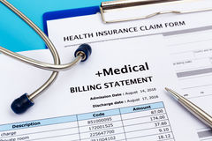 Healthcare cost and insurance concept Stock Photo