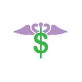 Healthcare costs and expenses showing concept of expensive healt Stock Images