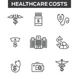 Healthcare costs and expenses showing concept of expensive healt Stock Photo