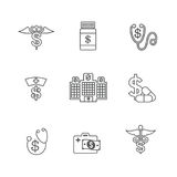 Healthcare costs and expenses showing concept of expensive healt Royalty Free Stock Photos