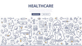 Healthcare Doodle Concept vector illustration