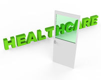 Healthcare Door Means Preventive Medicine And Doctors Royalty Free Stock Image