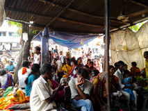 Healthcare facility in Indian village. Bihar, India - 10th Aug 2012: Patients getting treatment at a makeshift facility in a village in Bihar India. Lack of Stock Photos