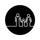 Healthcare family silhouette icon. Vector illustration design Royalty Free Stock Image