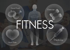 Healthcare Fitness Exercise Healthy Wellbeing Concept Royalty Free Stock Images