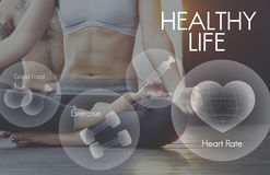 Healthcare Fitness Exercise Healthy Wellbeing Concept Stock Images