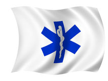 Healthcare flag. Isolated against white Stock Photography