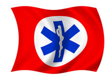 Healthcare flag royalty free illustration